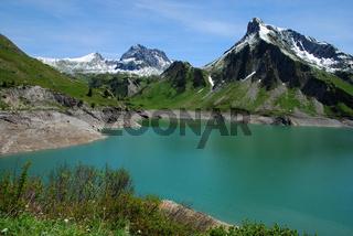 Spullersee im Lechquellengebirge, Vorarlberg, Oesterreich