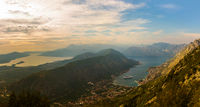 Kotor Bay on sunset - Montenegro