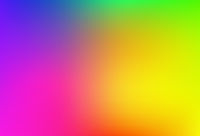 Gradient mesh blurred background in soft rainbow colors.