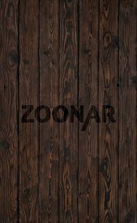 Old wood dark brown burned plank board of pine