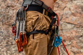 Traditional outdoor rock climbing gear
