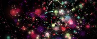 Fantastic bubble panorama background design illustration