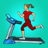 treadmill, sports equipment for training. fitness room