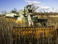 Heavy machine on the lake