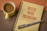 Success needs preparation motivational note