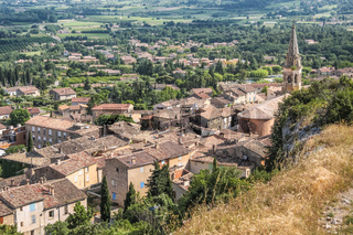 View of the village of Saint-Saturnin-les-Apt
