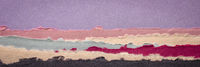 dawn or dusk abstract panorama landscape created with handmade Indian paper