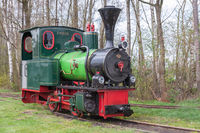 Historic steam locomotive used for exploration of Dutch moorland