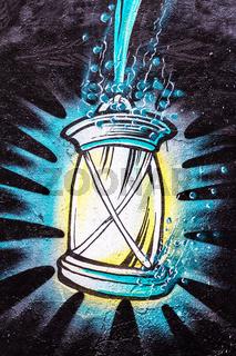 Graffiti Lampe