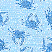 Blue crabs mosaic pattern