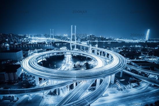 shanghai nanpu bridge at evening