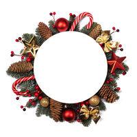 Christmas blank card with decor isolated