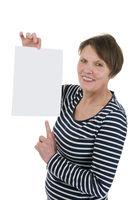 Blank sheet of paper satisfied