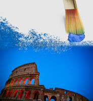 Rome Italy Colosseum painting