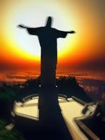 Jesus Christ on cross 3d rendering