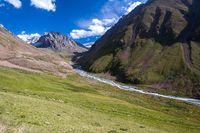 Mountain ravine. Tien Shan