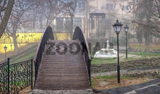 Old town corner in Odessa, Ukraine