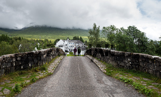 The bridge of orchy  in the central highlands of Scotland