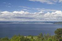 Blick auf den Trondheimfjord
