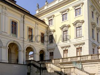 Schloss Ludwigsburg, Fassade, Seitenflügel, Arkade, Durchgang, Treppenaufgang