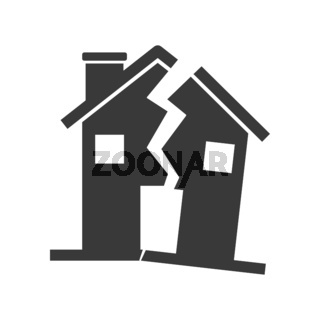 Damaged House Icon Vector