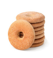 Stack of fresh butter cookies