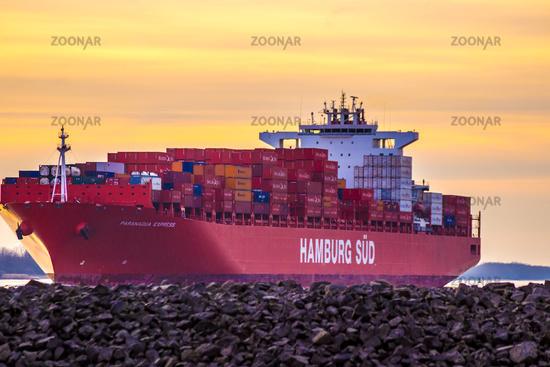 Container Schiff Hamburg Sued