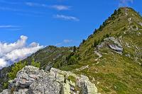 Aufstieg zum Gipfel Dent de Nendaz, Nendaz,Wallis, Schweiz