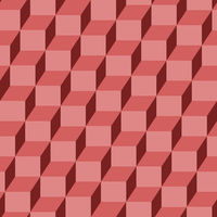 Seamless geometric cubes pattern in red