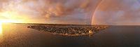 Storm Creates Rainbow Over the Northwest Arctic Borough of Kotzebue Alaska