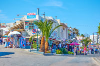 Shopping district in Fira