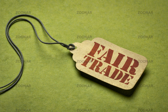fair trade sign on a price tag
