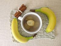 Bananenschalentee, Tee aus Bio Bananen, Bananenschalen und Zimt
