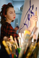 young woman artist