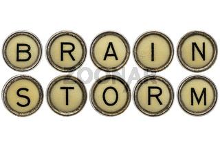 brainstorm word in  typewriter keys
