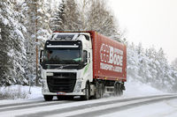 White Volvo FH Semi Truck Freight Transport