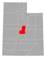 Karte von Sanpete in Utah - Map of Sanpete in Utah