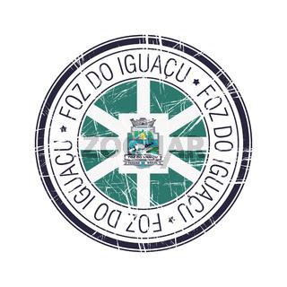 City of Foz Do Iguancu, Brazil vector stamp