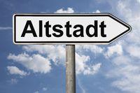 Wegweiser Altstadt | signpost Altstadt (Old Town)