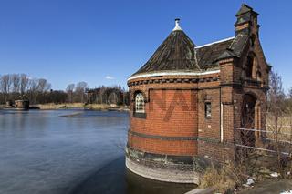 Historisches Pumpenhäuschen am ehemaligen Wasserwerk Kaltehofe in Rothenburgsort, Hamburg, Deutschland, Europa
