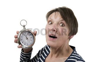 Angst mit Uhr