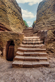 exterior labyrinths Lalibela, Ethiopia