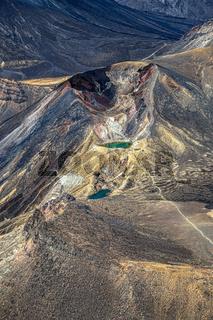 Luftaufname von Red Crater, Nordinsel, Neuseeland, Ozeanien.