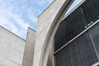 Contemporary architecture detail. Concrete facade in Berlin