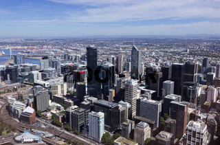 Aerial view of Melbourne city Australia