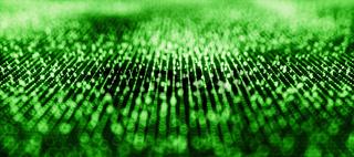 Binary Code Background Green