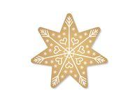 christmas star on white background - 3d rendering
