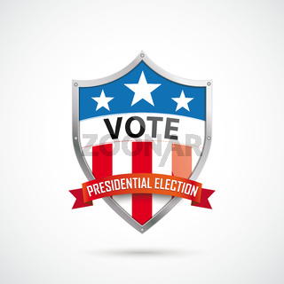 Vote Presidential Election Protection Shield Ribbon