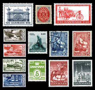 Postage stamps from Denmark