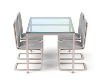 Rose gold dining table and chairs
